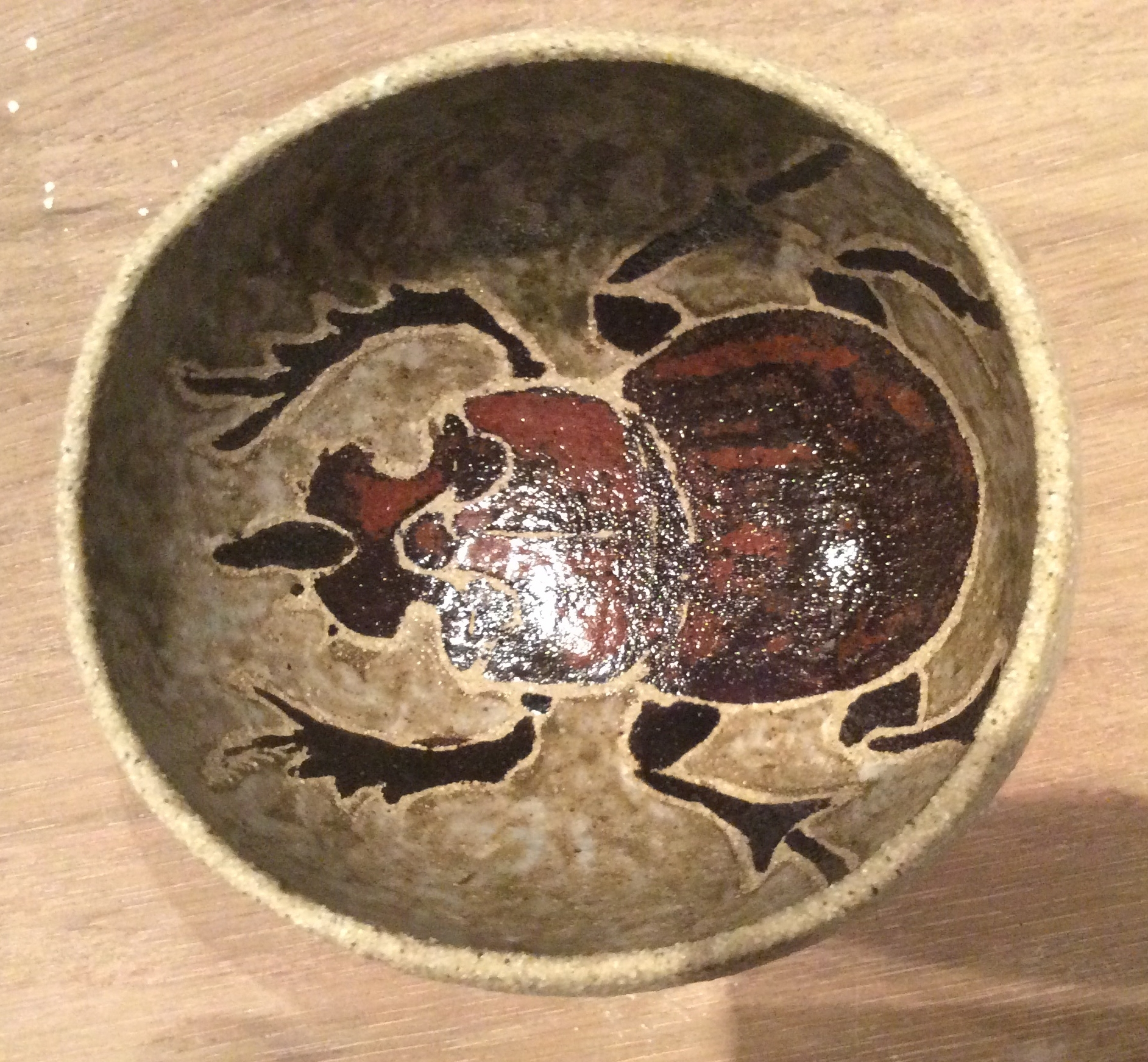 pinch pot with bug design